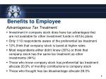 benefits to employee