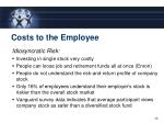 costs to the employee