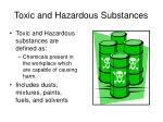 toxic and hazardous substances1
