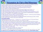 pr sentation du club et bref historique