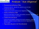 analyse due diligence