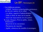 le bp remarques 2