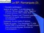 le bp remarques 3
