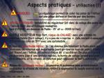 aspects pratiques utilisation 1
