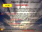 aspects pratiques utilisation 2