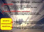 aspects pratiques utilisation 4
