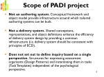 scope of padi project