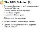 the padi solution 1