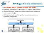 mpi support in grid environments1