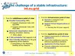the challenge of a stable infrastructure int eu grid