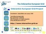 the interactive european grid