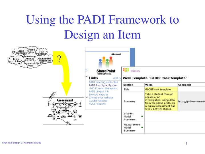 PPT - Using the PADI Framework to Design an Item PowerPoint ...