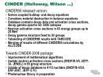 cinder holloway wilson