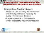 proposals for improvement of the preparedness response mechanism1