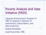 poverty analysis and data initiative padi