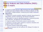 poverty analysis and data initiative padi what it means