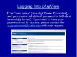 logging into blue view2