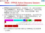 pads pppoe active discovery session confirmation