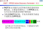 padt pppoe active discovery terminate