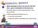 knowledge review question 85