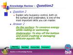 knowledge review question2