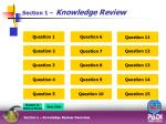 section 1 knowledge review