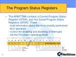 the program status registers