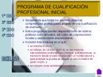 programa de cualificaci n profesional inicial