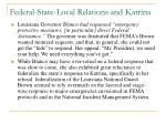 federal state local relations and katrina
