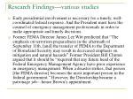 research findings various studies