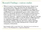 research findings various studies1