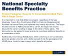 national specialty benefits practice9