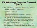 bpr methodology comparison framework cont