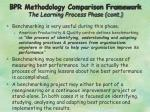 bpr methodology comparison framework the learning process phase cont