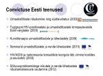 convictuse eesti teenused