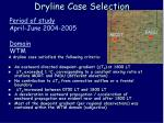 dryline case selection
