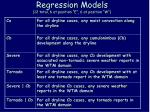 regression models 12 total 6 at position e 6 at position w