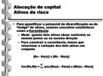 aloca o de capital ativos de risco1