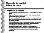 aloca o de capital ativos de risco8