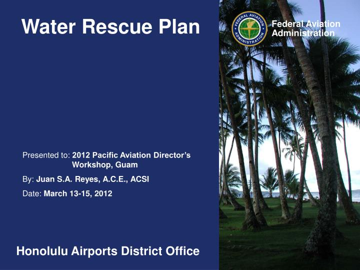 water rescue plan n.