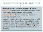 classification of fluid flows