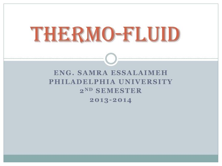 thermo fluid n.