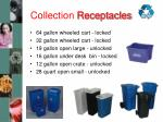 collection receptacles