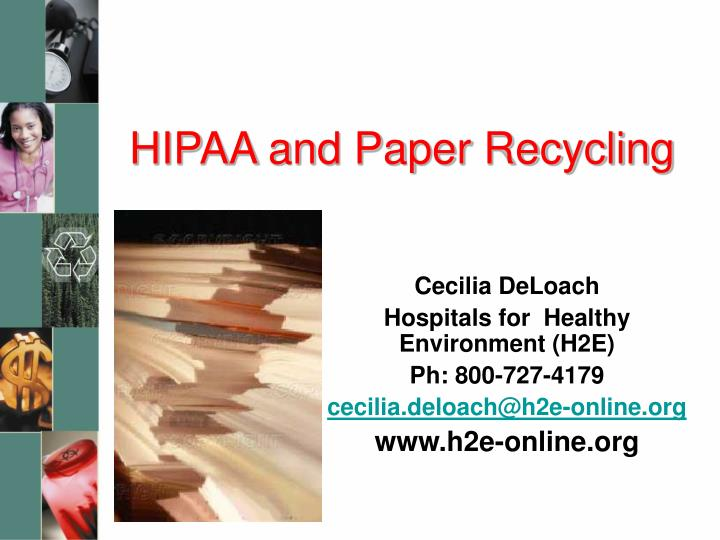 hipaa and paper recycling n.