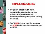 hipaa standards