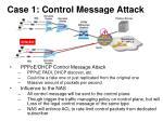 case 1 control message attack