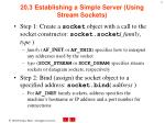 20 3 establishing a simple server using stream sockets