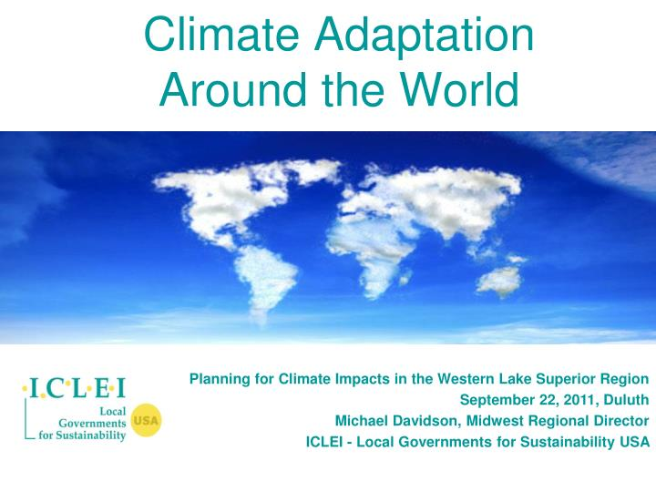 climate adaptation around the world n.