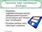tworzenie kopii ratunkowych backups
