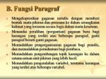 b fungsi paragraf